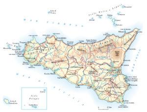 Cartina Sicilia Tindari.Sicilia Cartina Geografica La Casa Di Aurelio